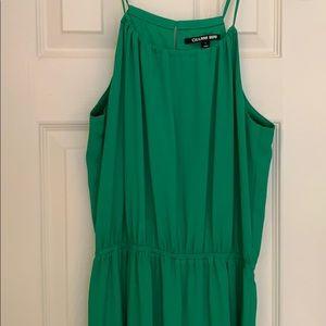 Gianna Bini Green cotton lined maxi